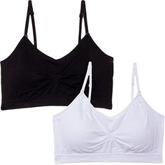 Coobie Womens Strappy Scoopneck Bra One Size BlackWhite >>> More info could be found at the image url.