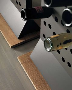 IDUBA - Portabottiglie in corten o verniciato. IDUBA - Corten or painted bottle rack.