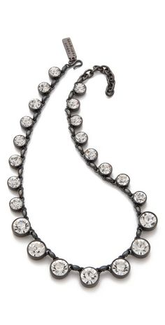 Robert Rodriguez  Graduated Crystal Necklace