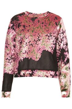 Abstract Mesh Sweat by Boutique Available@TOPSHOP