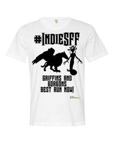 http://www.outsidetheexosphere.biz/product/indiesff-grogons-griffins-short-sleeve-mens-t/  #IndieSFF Gorgons & Griffins Short sleeve men's T  #Fantasy #OTX