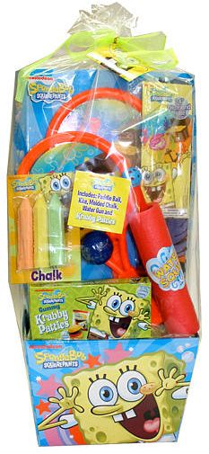 Gifts for children fun at the beach with cars gift basket 4 kids gifts for kids easy easter basket ideas spongebob squarepants pre filled easter basket negle Gallery