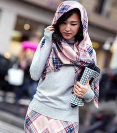 Matching scarf and skirt