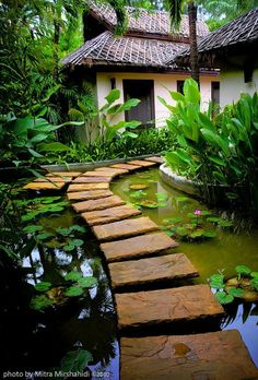 It Reminds Me of Bali but I'm Sure This isn't Balinese Design Maybe Polynesian I'd Make Sure There Are A Lot of Small Fish In The Pond Tho Just To Make Sure No Mosquito Larvae Survive