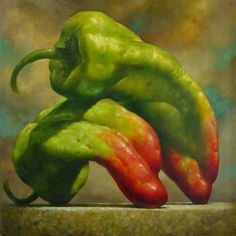 Richard Currier is an oil painting artist who was born in Florida. He is popular in the domain of representational art. New Fruit, Fruit Art, Fruit And Veg, Painting Still Life, Still Life Art, Realistic Paintings, Oil Paintings, Watercolour Paintings, Vegetable Painting