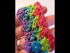 Rainbow Loom Lattice Bracelet Tutorial by Ellen Carpenter. - YouTube