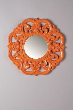 Statements by J | Orange Gisele Baroque Mirror hand-finished, glossy frame.