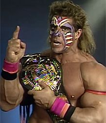 The Ultimate Warrior had awesome makeup!!!