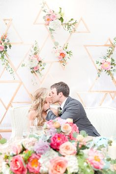 geometric wedding ideas - photo by Amy & Jordan Photography http://ruffledblog.com/bright-summery-arizona-wedding