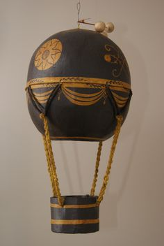 vintage paper mache hot air balloon