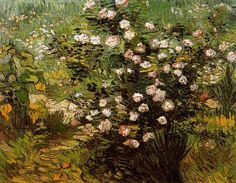 Rosal en flor Van Gogh 1889