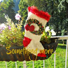 Something More Handknit Christmas Stocking by JingleBellSocks.com