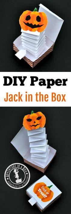 DIY Boite pop up pour Halloween qui faire peur !
