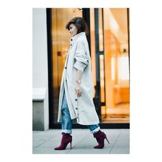 Sophie Eliseeva (@sophiesavenue) looks fabulous in her burgundy suede ankle boots with a maxi #bow. Find out more at ballin-shoes.com [link in bio] #Ballin #BallinShoes #fashion #style