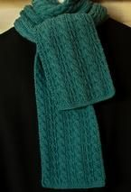 Cable Lover's Reversible Scarf