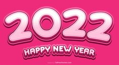 Free Pink New Year Background 2022