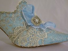 Marie Antoinette themed wedding shoes in by everlastinglifashion,
