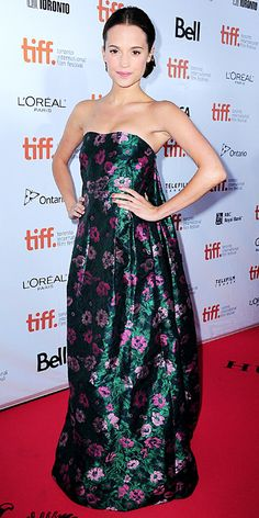 Alicia Vikander's Red Carpet Style - In Erdem, 2015  - from InStyle.com