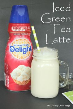 iced green tea latte recipe with @indelight #idelight #spon