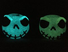 Jack Skel Glow in the Dark Glass Pipe by InfernoValley on Etsy