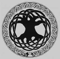 keltisch boommotief op de site van Brigit, iemand die veel over de symboliek van bomen verteld.