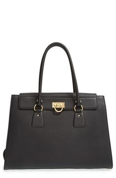 Salvatore Ferragamo 'Large Lotty' Leather Tote available at #Nordstrom