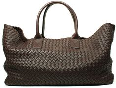 Bottega Veneta Brown Woven Intrecatto Leather Large Cabat Bag. A gift from my husband! Much treasured and loved!!!!!