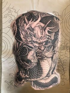 C Tattoo, Lunges, Dragon, Colors, Dragons