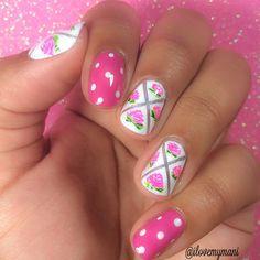 Floral tape mani nails! nail art by ilovemymaniofficial