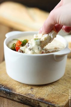 Philly Cheesesteak Dip - all you love about the famous cheesesteaks in dip form! So easy, too.