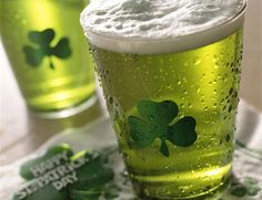 Today, go green!  #green beer