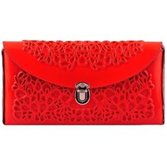 Medusa Clutch - Red ($119) ❤ liked on Polyvore