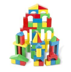 Melissa & Doug 100 Piece Wood Blocks