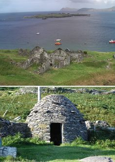 Deserted Village on Great Blasket Island, County Kerry. The story of this place is amazing. Ireland Vacation, Ireland Travel, Island County, Irish Sayings, Visit Uk, Images Of Ireland, Erin Go Bragh, Natural Homes, Scottish Islands