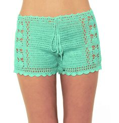 Mint crochet shorts, Beach Bikini Shorts Pantie in mint, Rustic Chunky Cotton Crochet Boy Shorts, Hipster Shorts, crochet lace short di WomensScarvesTrend su Etsy https://www.etsy.com/it/listing/235301236/mint-crochet-shorts-beach-bikini-shorts