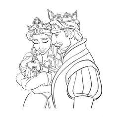 Disney Tangled Princess Rapunzel Coloring Book Page Video