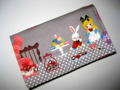 Bifold fabric wallet - ALICE IN WONDERLAND - clutch, pockets, coin | Nancym4 - Bags & Purses on ArtFire