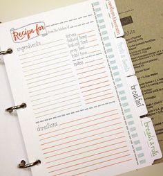 Páginas de cuaderno recarga páginas 10 receta
