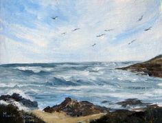 Lovely West Coast by Marie Theron South African Art, West Coast, Amsterdam, Mountains, Artist, Nature, Travel, Painting, Naturaleza