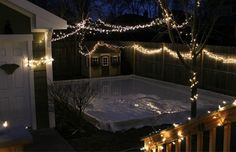 They framed out a rink, filled it with the hose, and made a backyard skating rink. Wow!