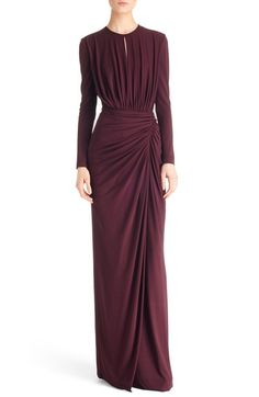 Givenchy Ruched Stretch Jersey Gown available at #Nordstrom