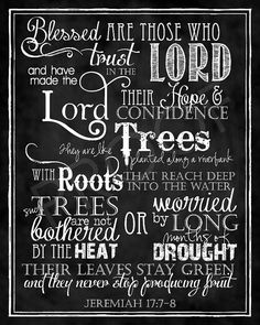 Scripture Art  Jeremiah 1778 Chalkboard by ToSuchAsTheseDesigns, $15.00