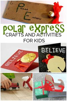 Fun ideas for Christmas with these Polar Express Activities and Crafts for Kids. From Preschoolers and toddlers through to STEM investigations for grades 2 Polar Express Crafts, Polar Express Book, Polar Express Activities, Polar Express Theme, Christmas Crafts For Kids To Make, Christmas Activities, Holiday Crafts, Activities For Kids, Winter Activities