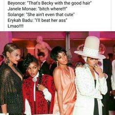 Beyonce, Janelle Monae, & Solange Knowles at the 2014 MET Gala My Black Is Beautiful, Beautiful People, Beautiful Women, Black Girls Rock, Black Girl Magic, King B, Beyonce Memes, Before Us, Celebs