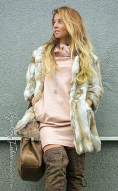 Pastelowe Boho - stylizacja futerko i muszkieterki | Hypnotizing Fashion - street style, blog stylizacje i moda