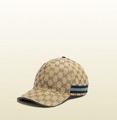 Gucci - gorra de béisbol con patrón de GG y detalle de tribanda 200035FFKPG8479