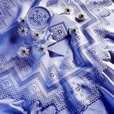 Hardanger tablecloth.