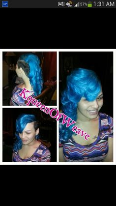 Besutiful, different sew in, reg sides shaved