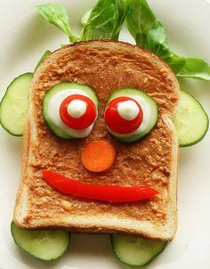 So cute! Great way to spruce up a boring sandwich and sneak in some extra veggies while you're at it.