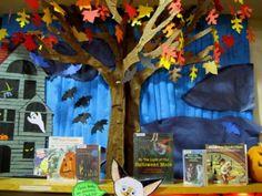 Halloween tree book display